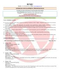 Bunch Ideas Of Android Developer Sample Resumes Resume Format
