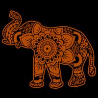 Elephant Pumpkin Carving Pattern Adorable Mandala Elephant StoneyKins