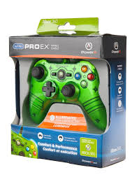 Xbox 360 4 Green Lights Green Mini Pro Ex Wired Controller For Xbox 360 Xbox 360
