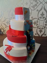A Cake For A Twin A Boy And A Girl Girl Loves Bling And Soccer Boy