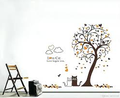 star wall art silver star wall decals luxury cartoon loving cat under tree wall art mural decor removable star wall art designs