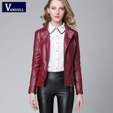 leather jacket 2018 autumn new high fashion street brand style women pu leather short motorcycle jacket