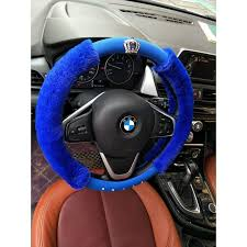 diamond crown soft plush steering wheel cover