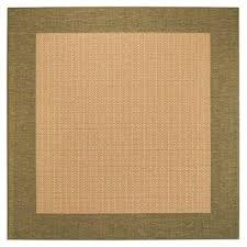 checd field natural green 8 ft square area rug