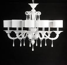 modern white glass chandelier priuli modern study office by yourmurano lighting uk