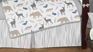 woodland animals crib bedding set by sweet jojo designs 9 piece