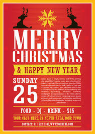 modern christmas flyer template vector ai file