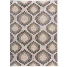 contemporary morroccan design area rug yellow