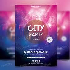 city party psd template flyer flyershitter com get city party flyer template psd