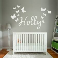 personalised wall decals uk personalized name wall art sticker butterflies wall designer  on wall art stickers nursery uk with wall decal good ideas for personalised wall decals uk vinyl wall