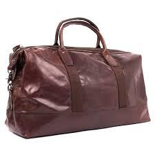 torun weekend bag leather brown detail