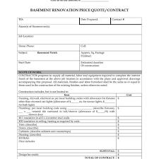 bathroom remodel contract. Renovation Quote Template Bathroom Remodel Contract G