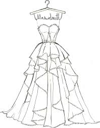 Wedding Dress Coloring Pages Printable 5175 Wedding Dress Coloring
