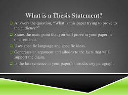 research essay thesis Advice On How To Get A Good Thesis Paper Outline Sample Thesis Statement