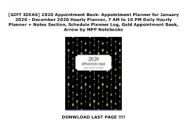 Hourly Planner 2020 Gift Ideas 2020 Appointment Book Appointment Planner For