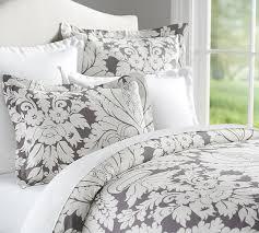damask duvet cover sham pottery barn throughout covers king designs 12