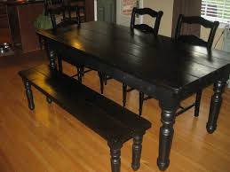 handmade country farm table with matching bench osborne wood s
