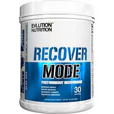 evlution nutrition recover mode post workout with bcaa s creatine glutamine beta alanine