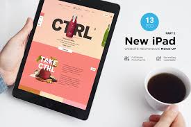 New Ipad Responsive Mockup In Device Mockups On Yellow Images Creative Store