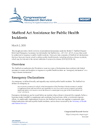 Stafford Act Assistance for Public ...
