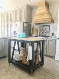 diy kitchen island cart. Perfect Diy DIY Modern Farmhouse Kitchen Island Cart With Diy O