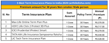 Also called a vanilla plan, this type is a very simple plan. 5 Best Term Insurance Plans In India 2020 2021 How To Choose