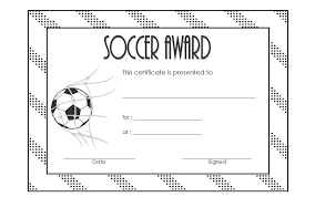 soccer awards templates soccer certificate template 2 the best template collection