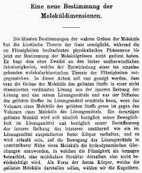 perevod Текст докторской диссертации Альберта Эйнштейна 1905