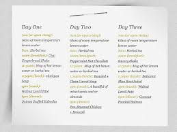 3 day fruit t plan menu