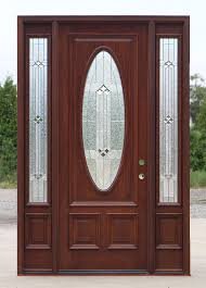 exterior mahogany door with oval glass builder zinc