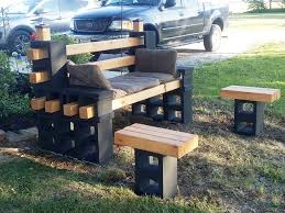SImple DIY Cinder Block Furniture Backyard CondoInteriorDesign