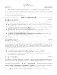 Human Resources Benefits Coordinator Resume
