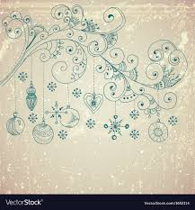 Background Decorations Design Christmas Background With Cute Decorations And