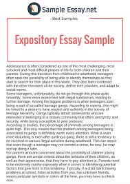 examples of a expository essay co examples
