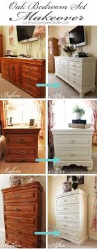 ideas for painting bedroom furniture. Oak Bedroom Set Painted In DIY Chalk Paint. Love The Difference Adding Feet Makes! Ideas For Painting Furniture