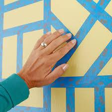 painting designs on wallsPainted Wall Grid