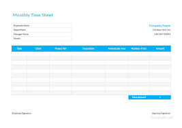 Monthly Time Card Template 10 Free Time Sheet Templates Daily Monthly Weekly Bi Weekly