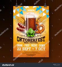 Dark Flyer Oktoberfest Party Poster Illustration Fresh Dark Stock Vector