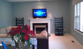 middletown ct lg tv over fireplace with soundbar and wires concealed 1