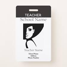 Teacher Id Badge Zazzle Com