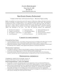 Real Estate Resume Letter Of Apealge Broker Example Traditional