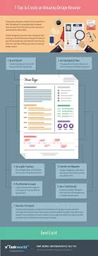 tips to create an amazing design resume infographic e learning 7 tips to create an amazing design resume infographic e learning infographics