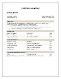 Traditional Table. Resume FormatProfessional ...