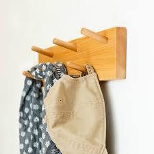 Row Of Hooks Coat Rack Solid Wood Wall Hanging Hook Door Back Creative Row Hook Hanger 38
