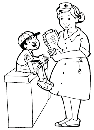 Male Nurse Coloring Page Cap Drawing At Free For Personal Use N Is