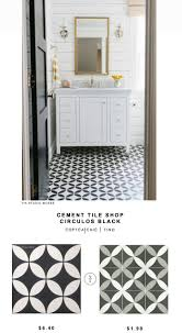 Cement Tile Shop Circulos Black Tile (Copy Cat Chic). Tile Floor PatternsKid  ...