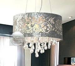 10 lamp shade silver drum shade crystal ceiling chandelier pendant light fixture lighting lamp 10 white