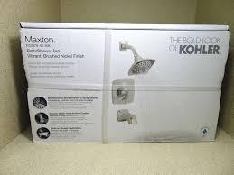 kohler r22478 4e bn maxton brushed nickel 1 handle bath and shower set