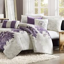 purple and gray madison park lola 6 piece duvet cover set ii