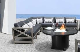 modern patio furniture. Kensington Teak Outdoor Sectional Patio Furniture Set Modern Patio Furniture